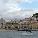 moments of travel on yellow boat tour in Lisbon, Portugal