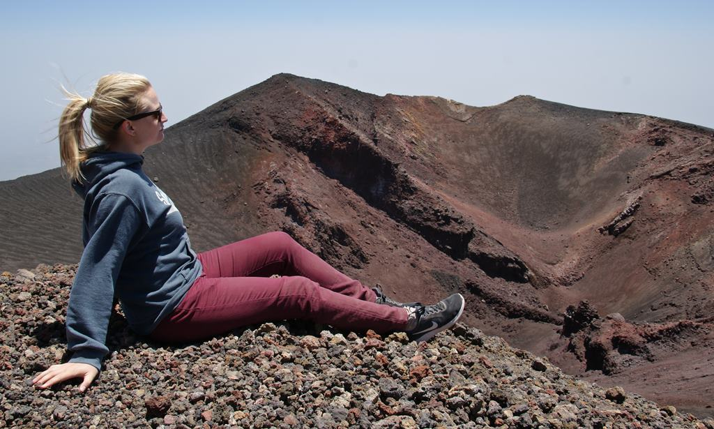 Sitting on Mount Etna in Sicily, The Versatile Blogger Award - momentsoftravel.com