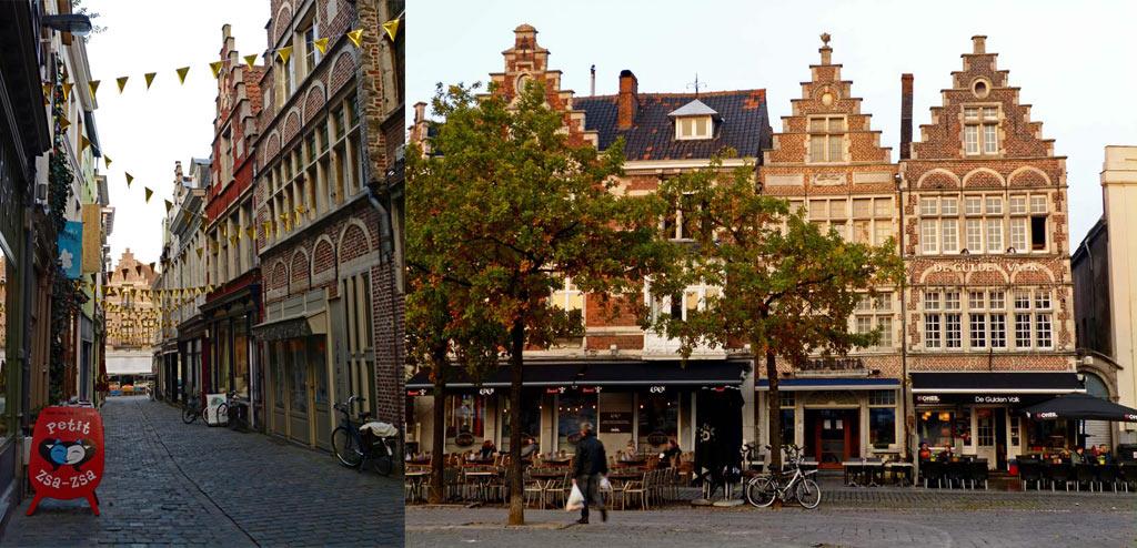 Gassen und alte Häuser in Gent, Gent Sehenswürdigkeiten, Moments of Travel