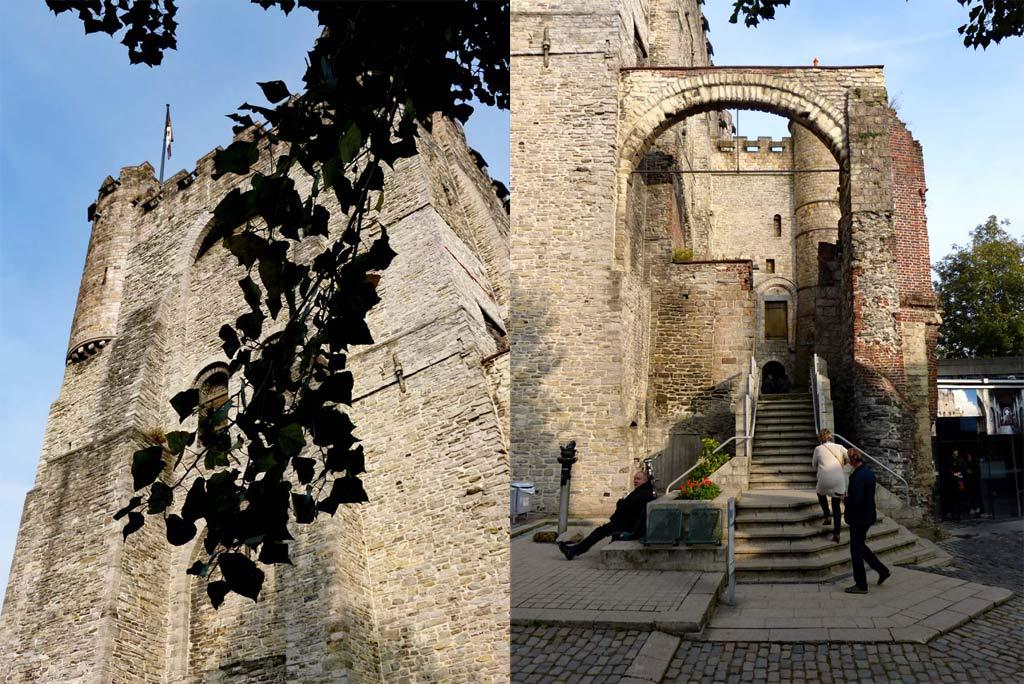 Turm und Eingang Gravensteen Gent, Gent Sehenswürdigkeiten, Moments of Travel