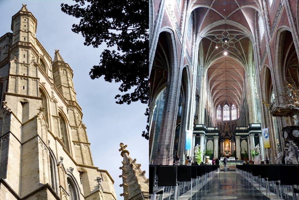 Kirchtürme und Innenansicht Kathedrale Gent, Gent Sehenswürdigkeiten, Moments of Travel