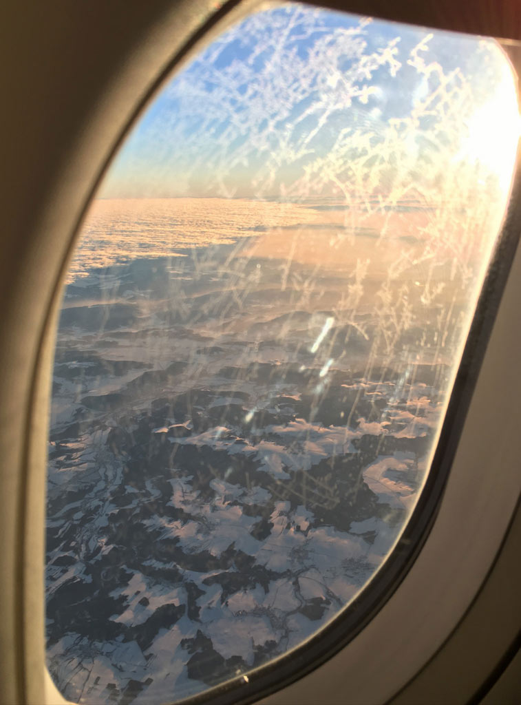 Aussicht aus Flugzeug bei Reise nach Österreich - Moments of Travel