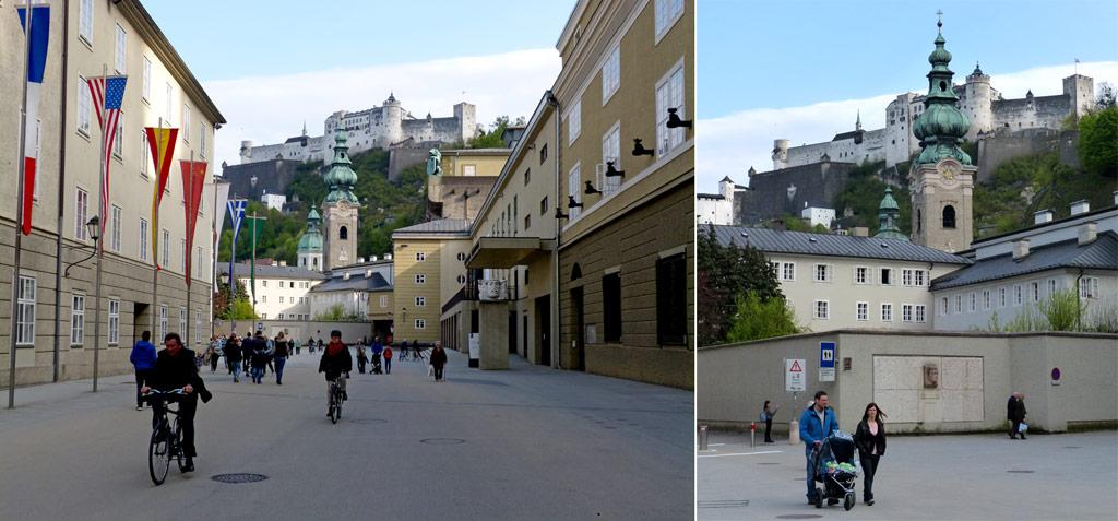 Domquartier mit Blick auf Festung Hohensalzburg
