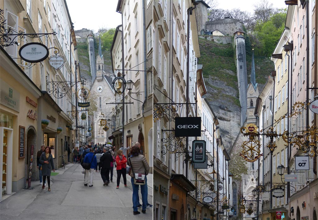 Enge Gasse in Salzburg