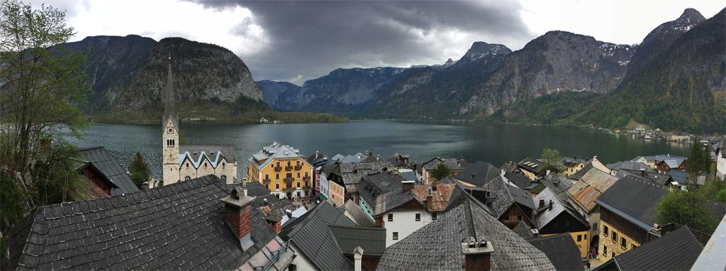 panorama hallstatt berge