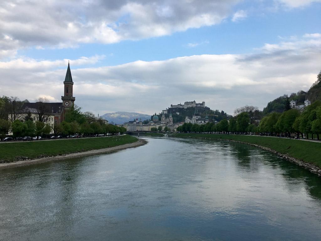 Fluss Berg Salzburg