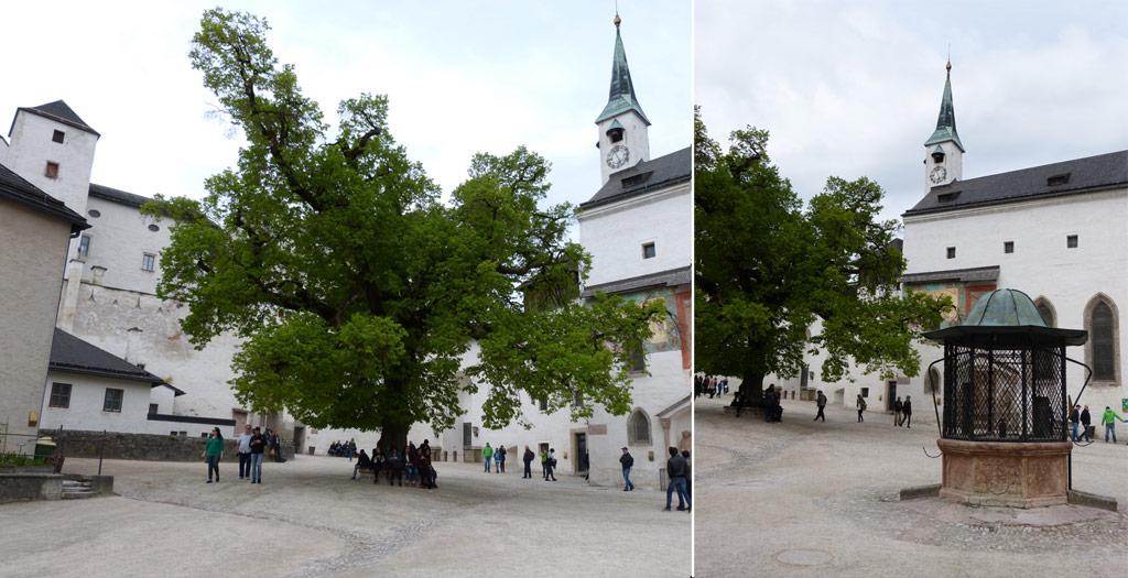 Kirchturm Brunnen Festung Hohensalzburg
