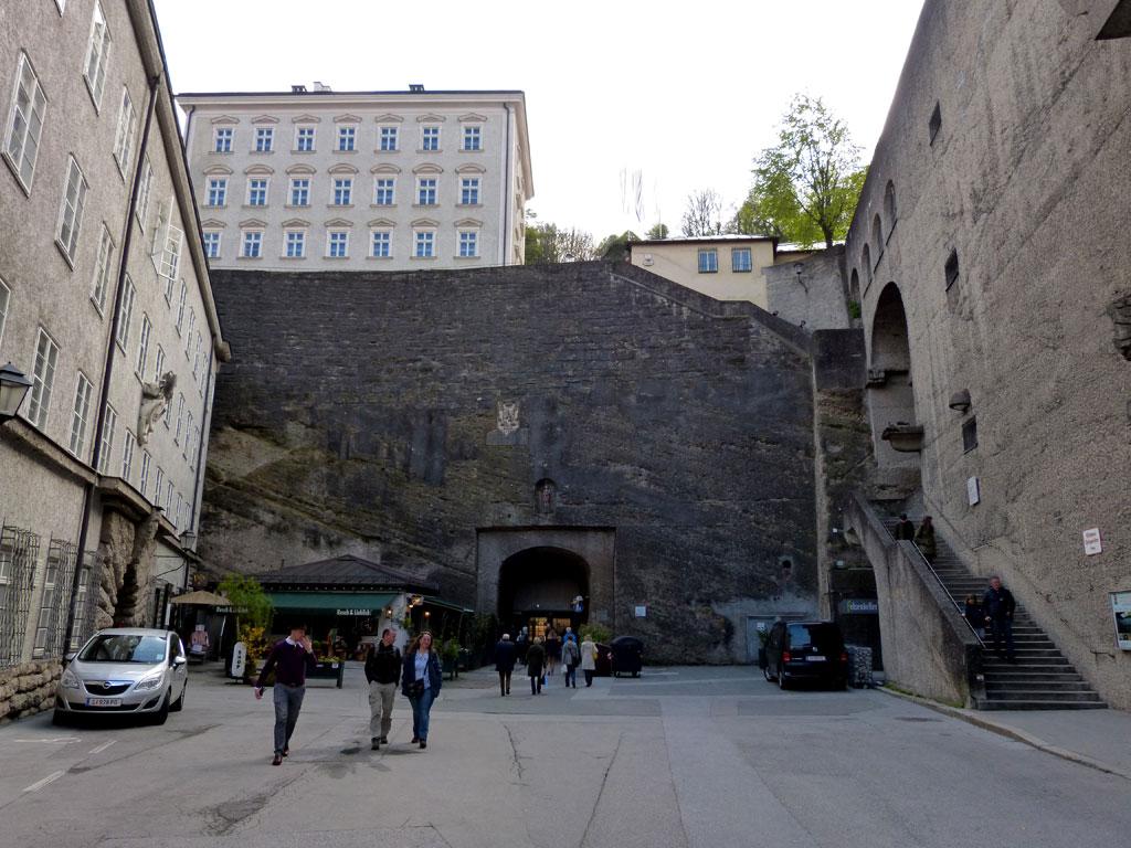 Stadtmauer Aufstieg Mönchsberg