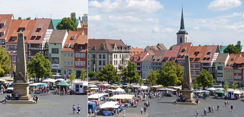 Bunte Häuser Domplatz Erfurt