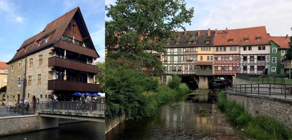 Haus Spitzdach Krämerbrücke Erfurt