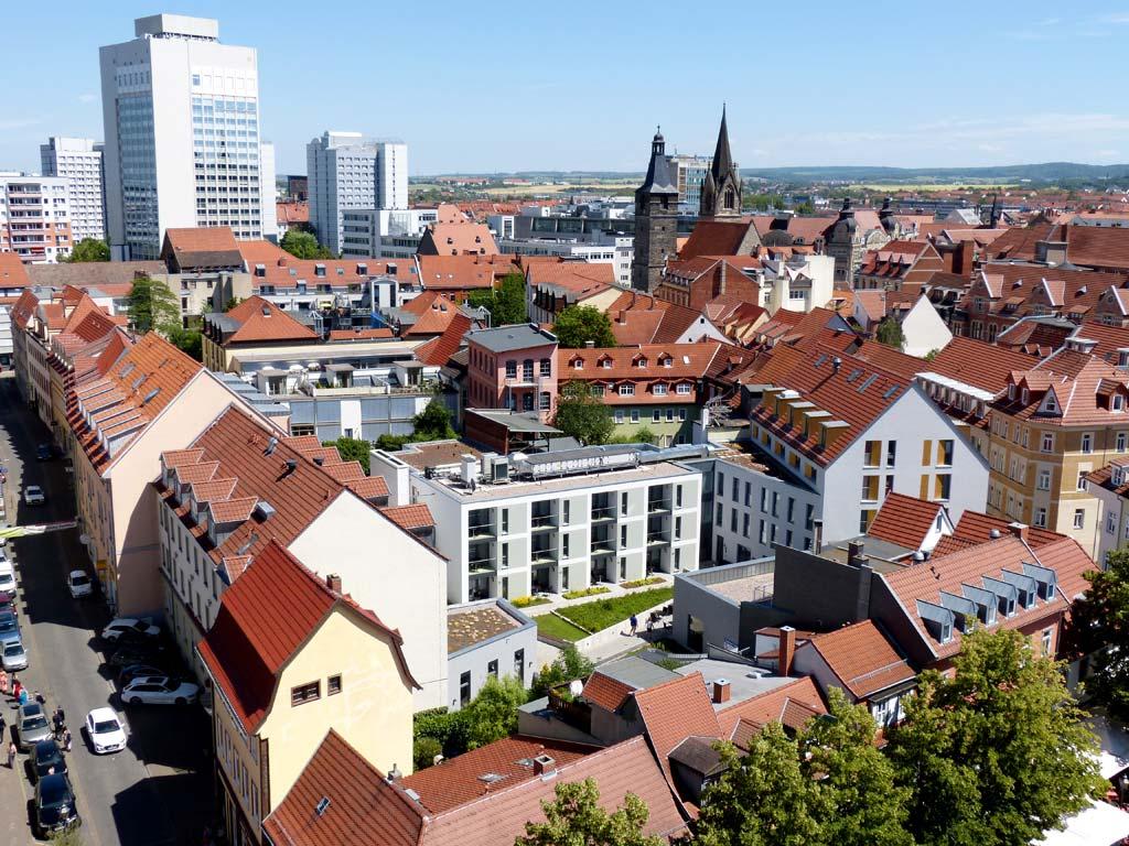 Hochhaus Dächer Ausblick Erfurt