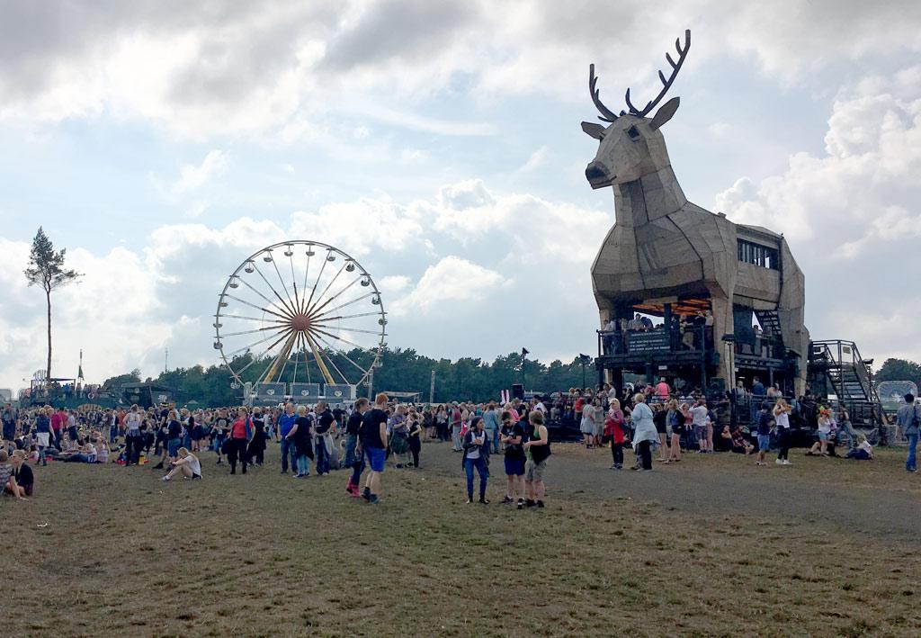 Rentier Festival Wiese