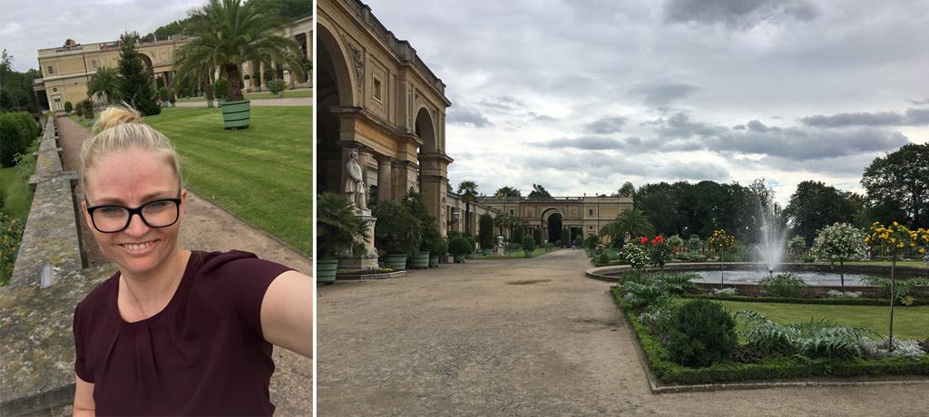 Frau Selfie Potsdam Orangerie