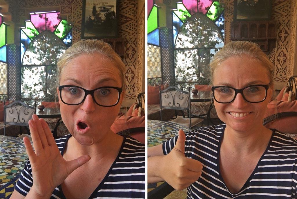 Marokko Frau Selfie