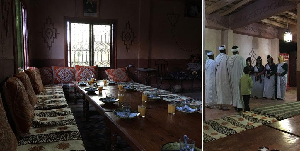 Bou Thrarar Hotel Tisch