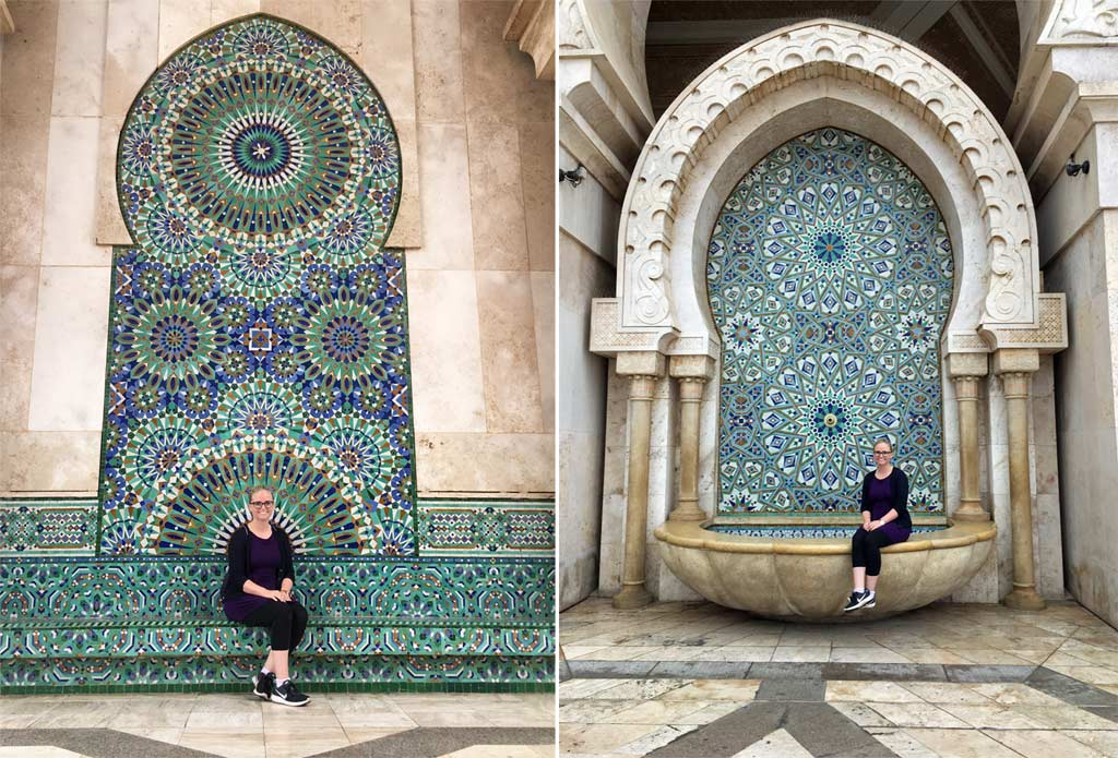 Frau Mosaik Moschee Casablanca