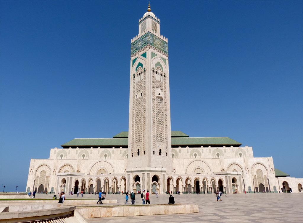 Hassan Moschee Casablanca von vorne