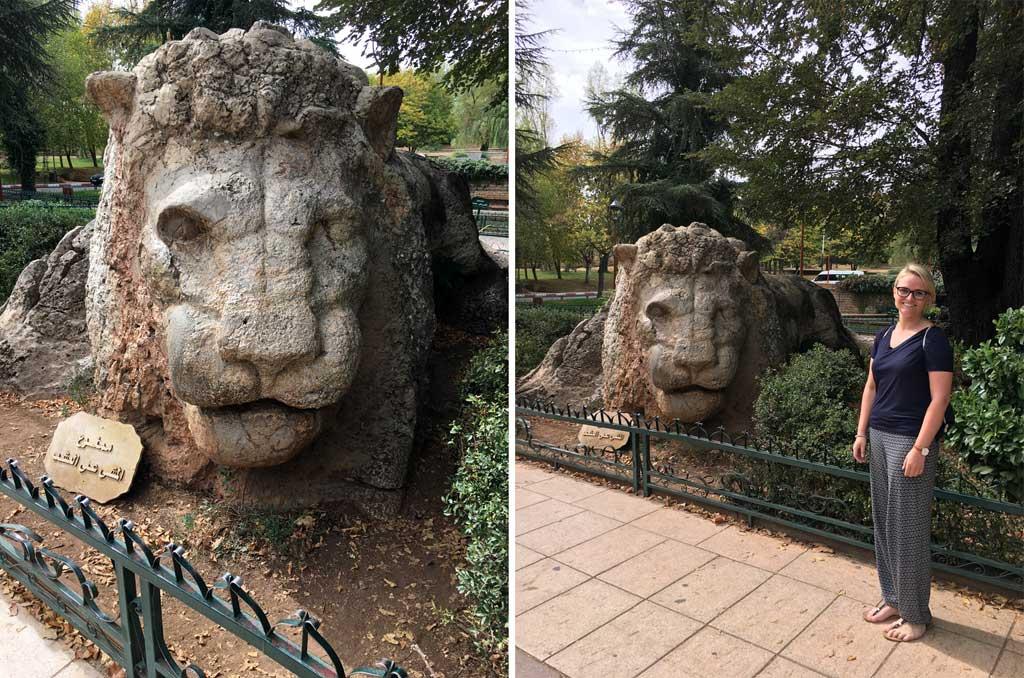 Ifrane Löwenstatue