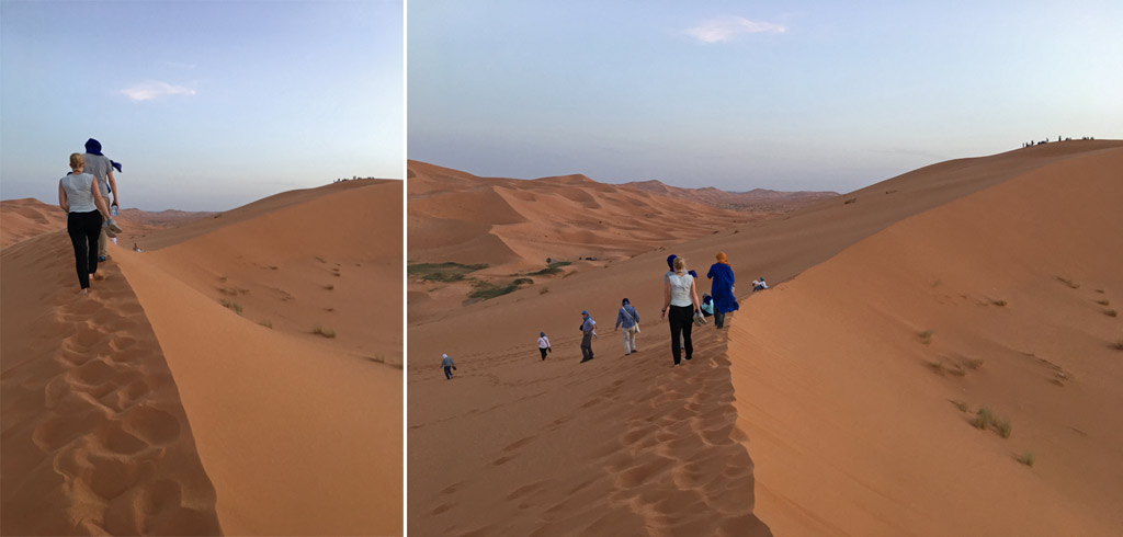Marokko Sahara Menschen Düne