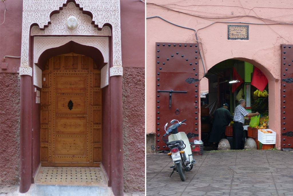 Marrakesch Tür rosa