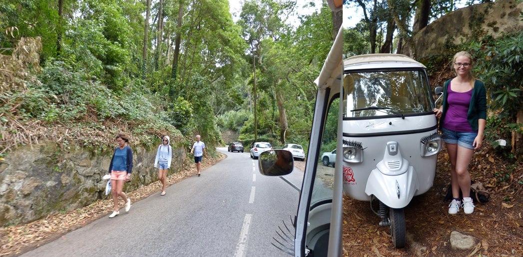 Crazy tuk tuk ride in Sintra_Portugal