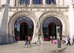 Rossio train station in Lisbon, Portugal