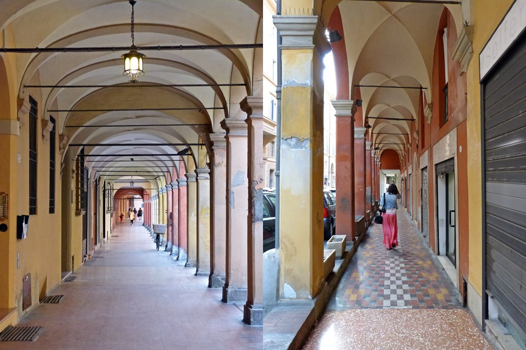 Arcades in Bologna