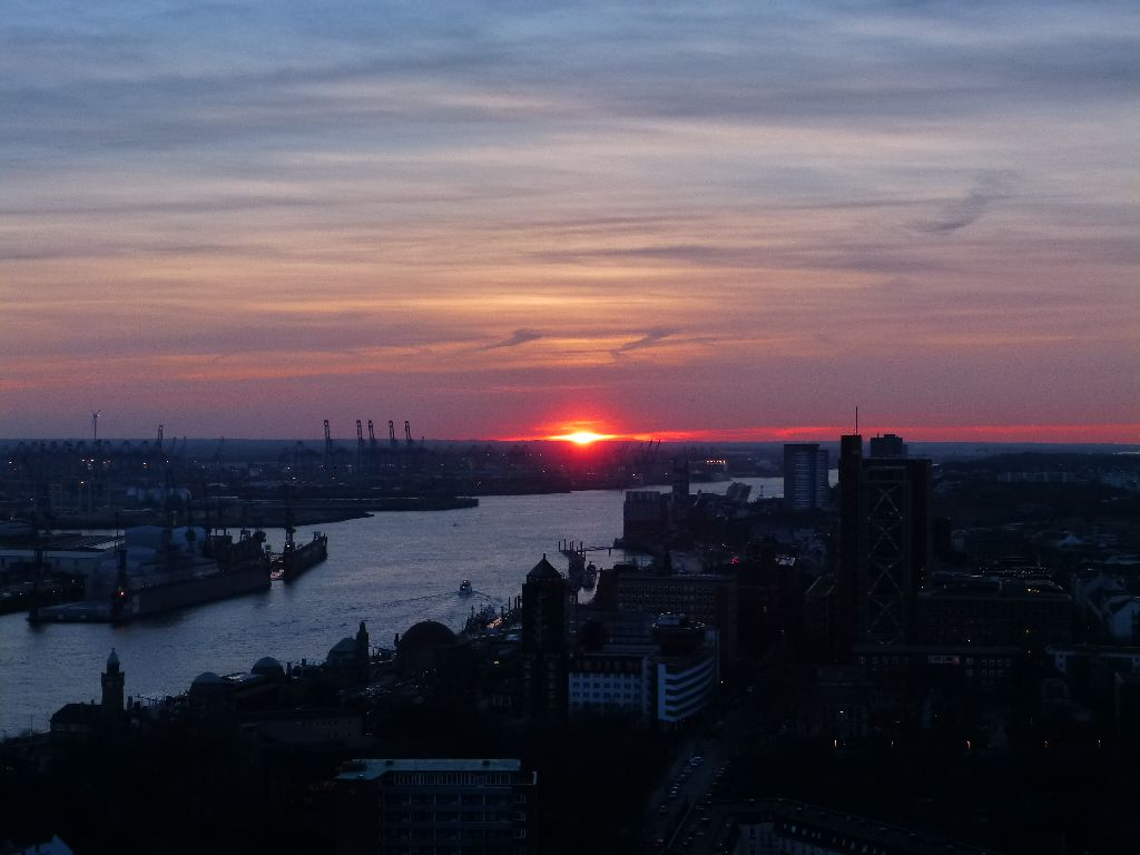 View from Michel in Hamburg