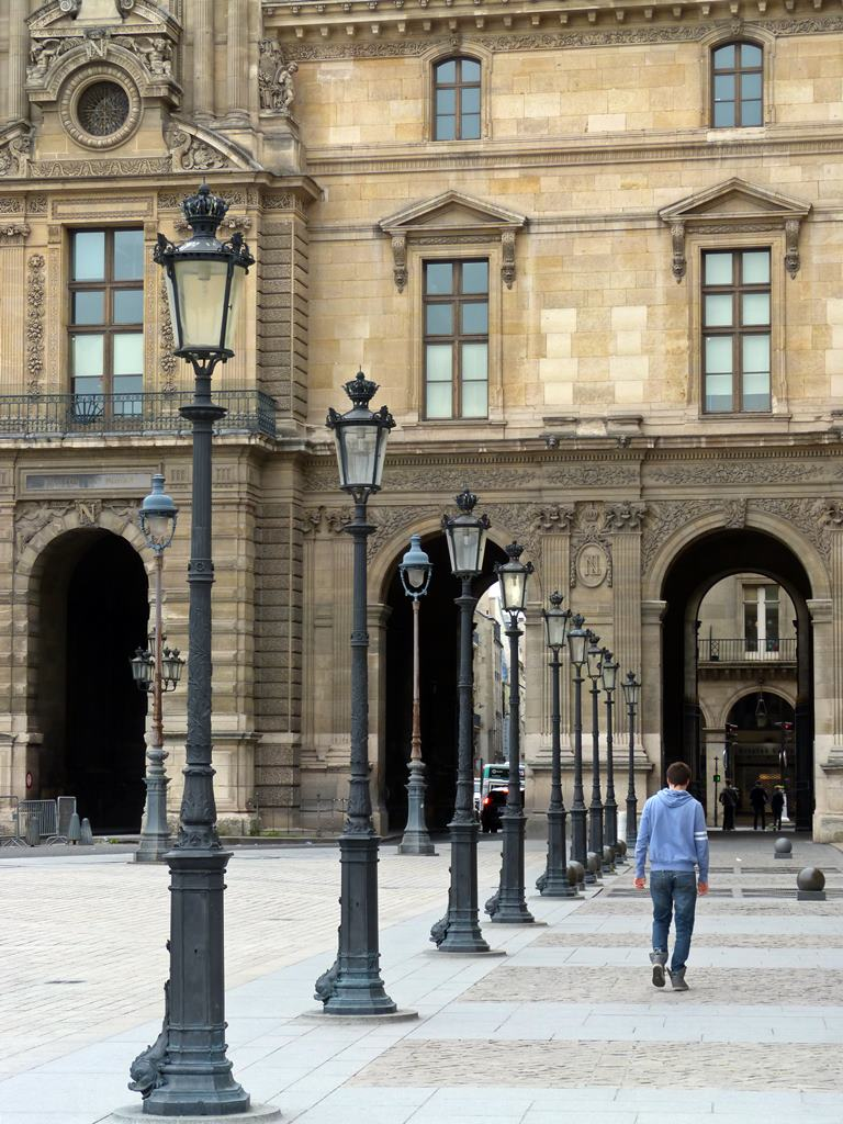 moments of travel at Louvre in Paris