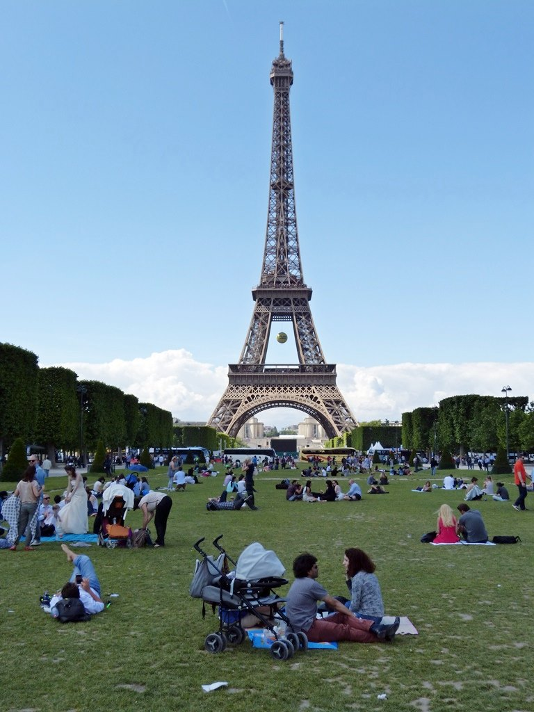 moments of travel at the Eiffel Tower in Paris