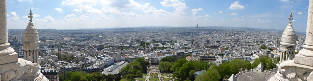 moments of travel on top of Sacre Coeur in Paris