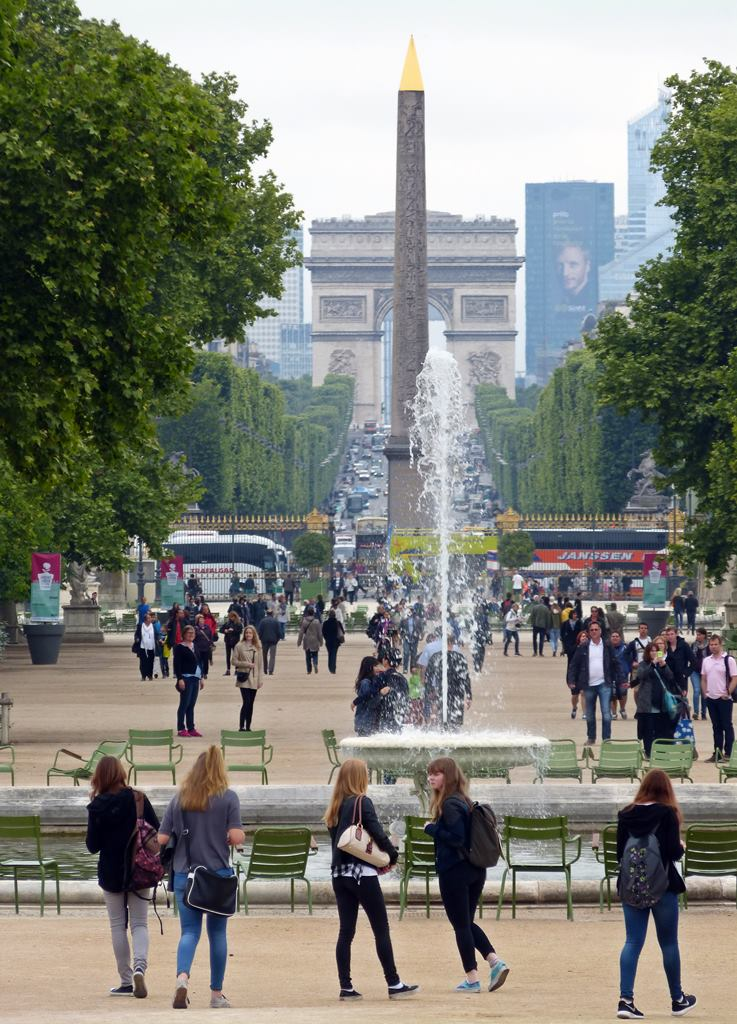 moments of travel walking around Paris close to the Louvre