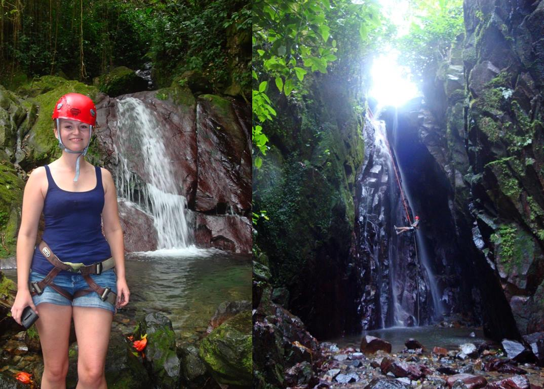 Puerto Rico, cleared myself off of a waterfall, The Versatile Blogger Award - momentsoftravel.com