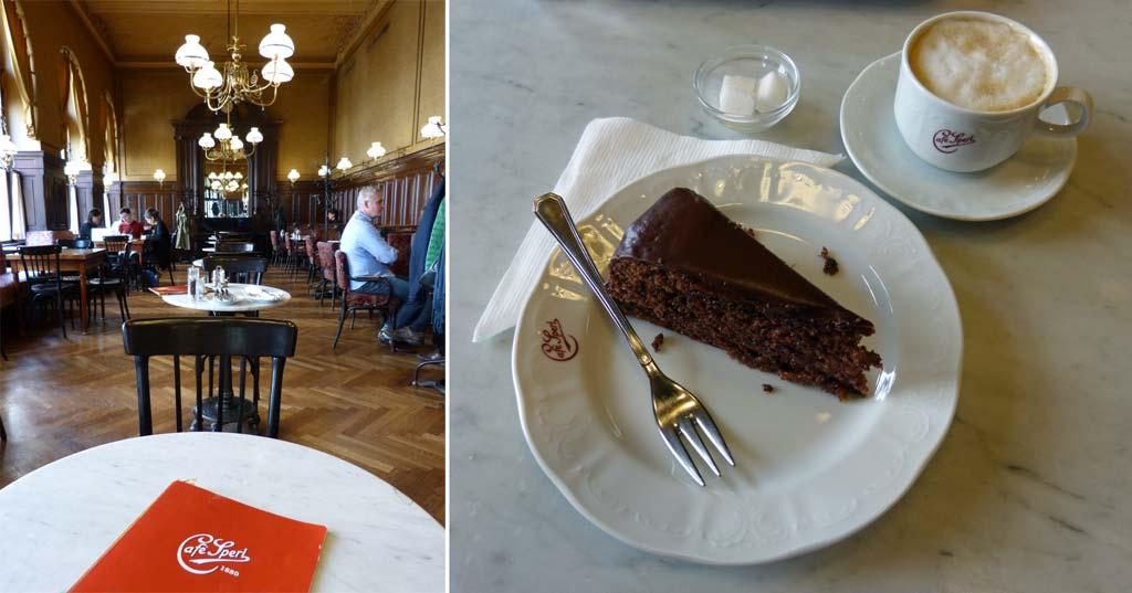 Wien Reisetipps Cafe Sperl Sachertorte
