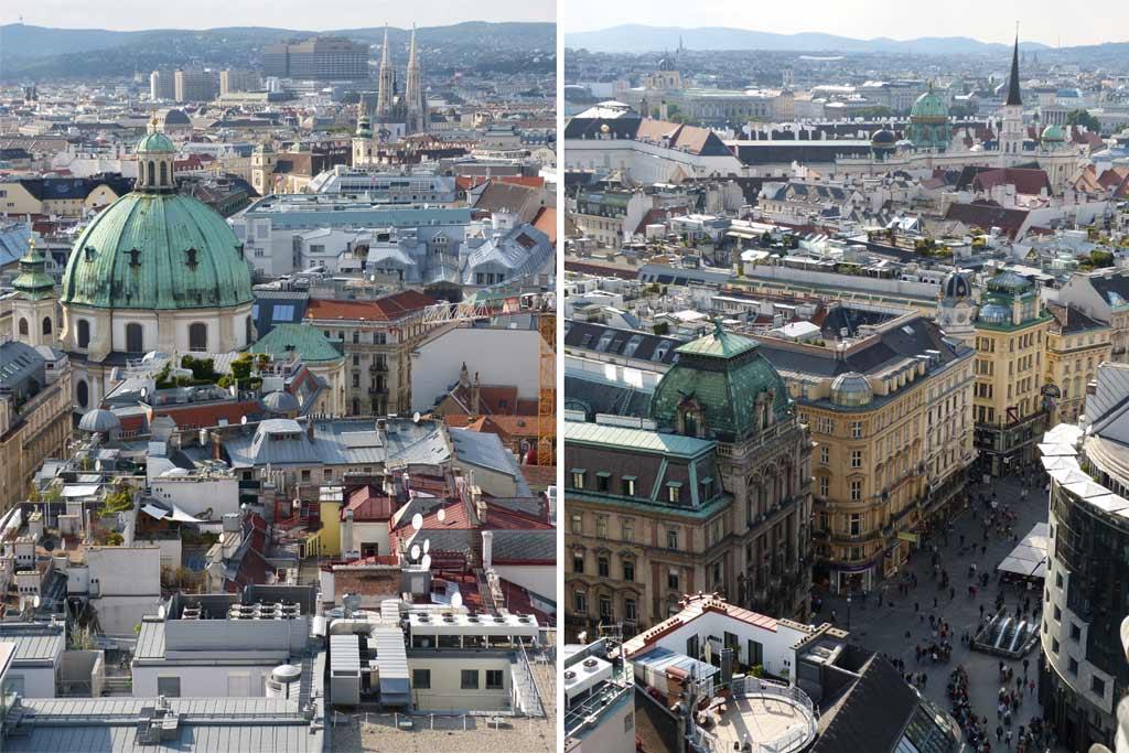 Wien Sehenswürdigkeiten Stephansdom Ausblick
