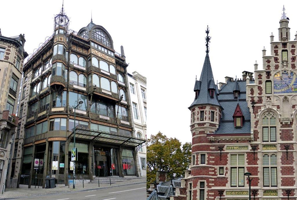 Historische Gebäude in der Altstadt von Brüssel, 48 Stunden Brüssel