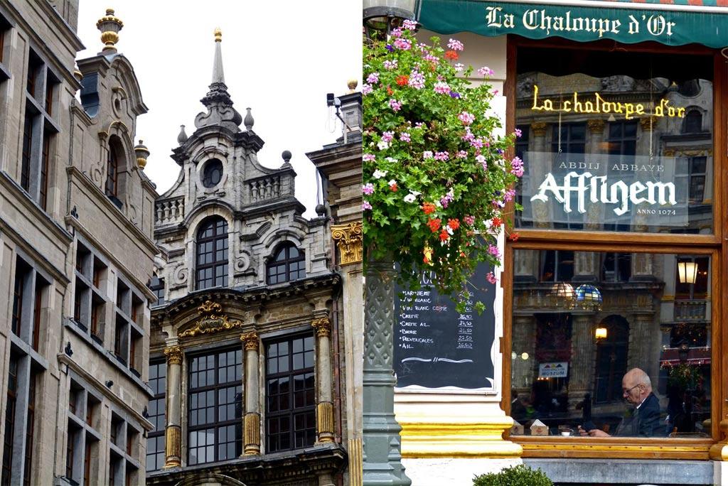 Cafe und altes Gebäude in Brüssel, ,48 Stunden Brüssel