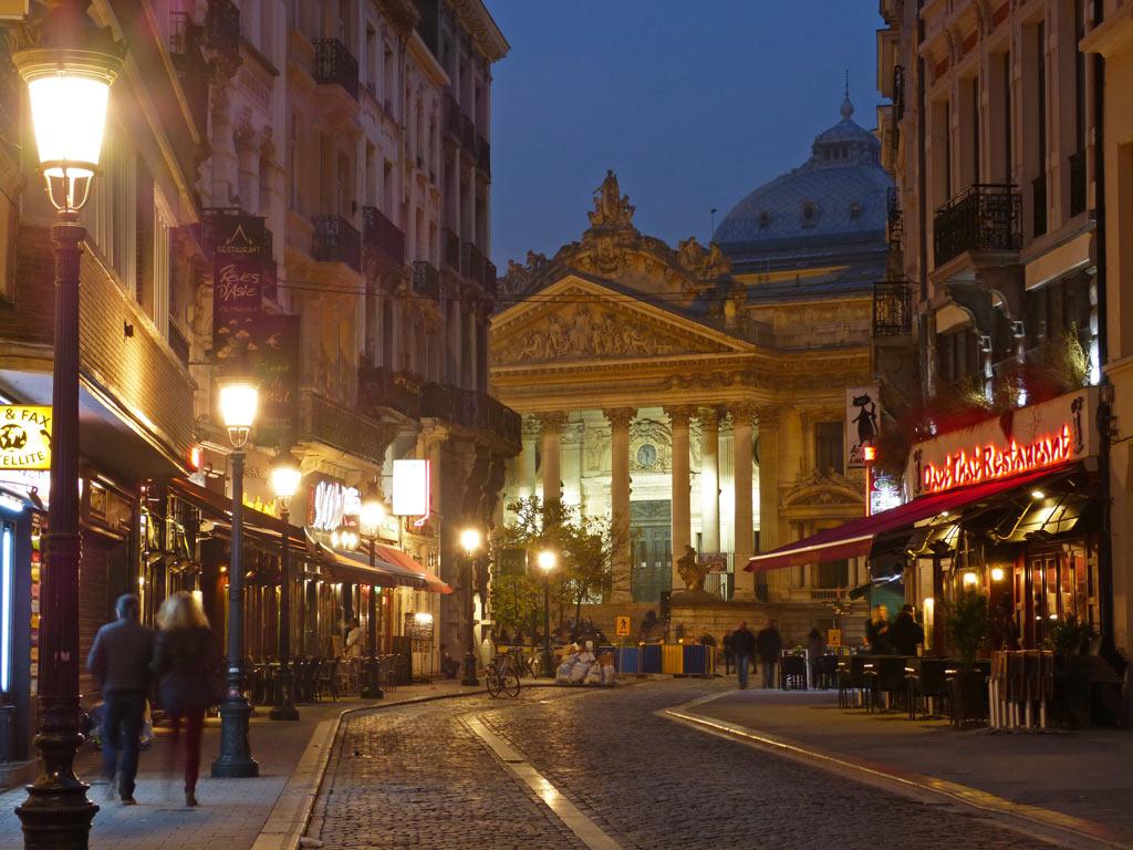 Altstadt von Brüssel in der Nacht, 48 Stunden Brüssel