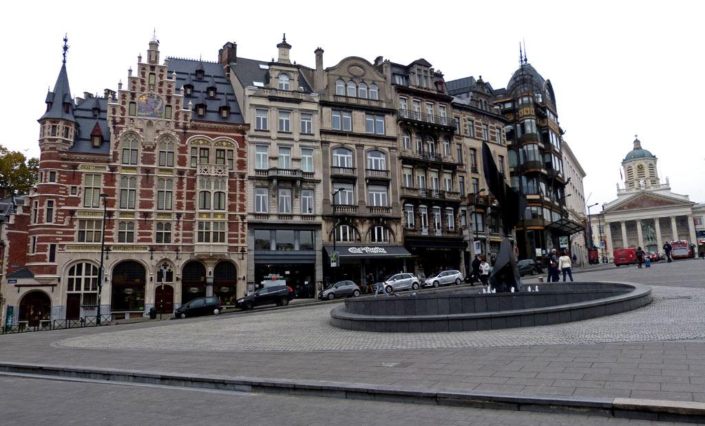 Häuserfront in Brüssel, 48 Stunden Brüssel