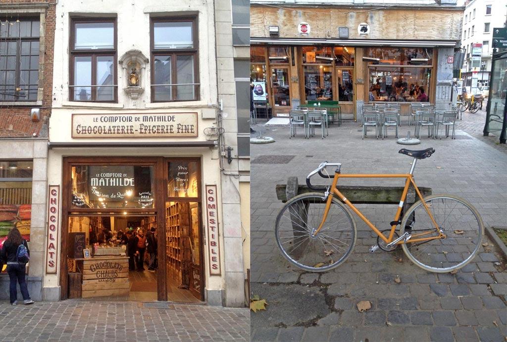 Shop in Brüssel, Fahrrad vor Laden, 48 Stunden Brüssel