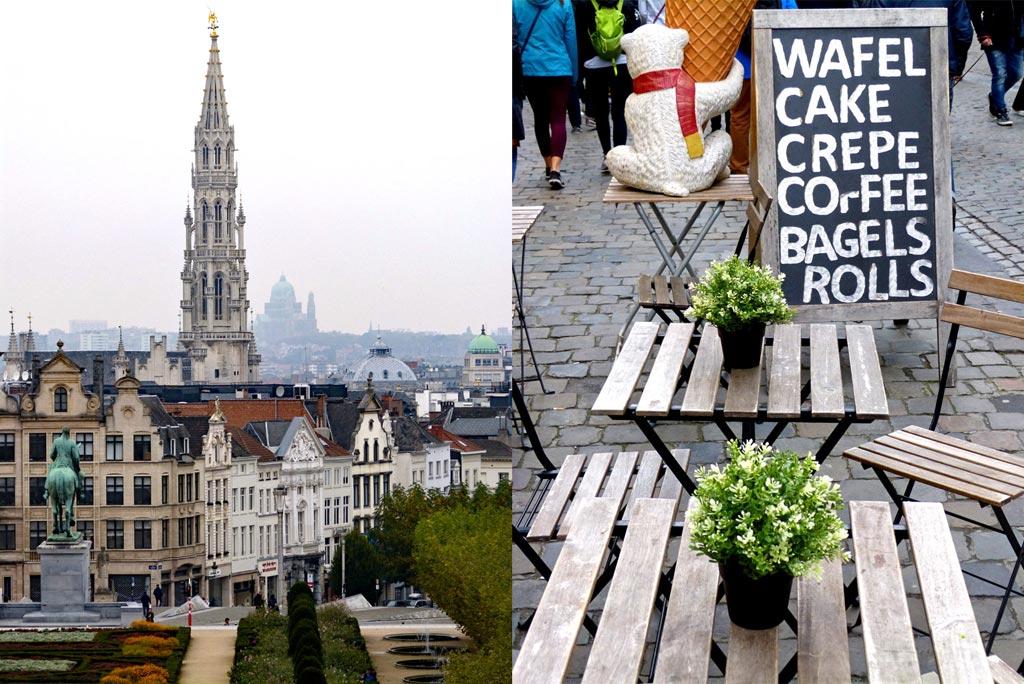 Cafe in Brüssel mit Aussicht, 48 Stunden Brüssel
