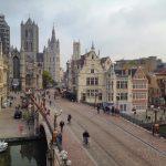Blick auf historische Innenstadt von Gent in Belgien, Gent Sehenswürdigkeiten, Moments of Travel