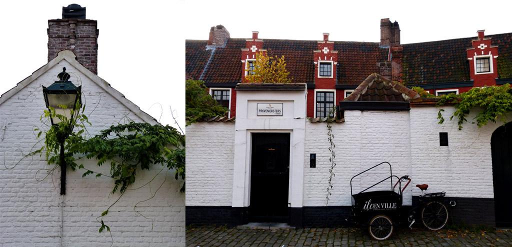 Weiße Häuser und Laternen in Gent, Gent Sehenswürdigkeiten, Moments of Travel