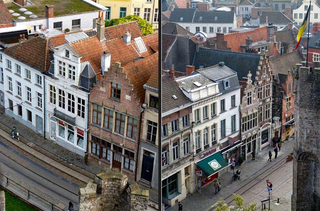 Historische Häuser in der Innenstadt Gent, Gent Sehenswürdigkeiten, Moments of Travel