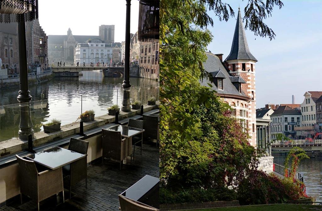 Restaurant und Turm in Gent, Gent Sehenswürdigkeiten, Moments of Travel