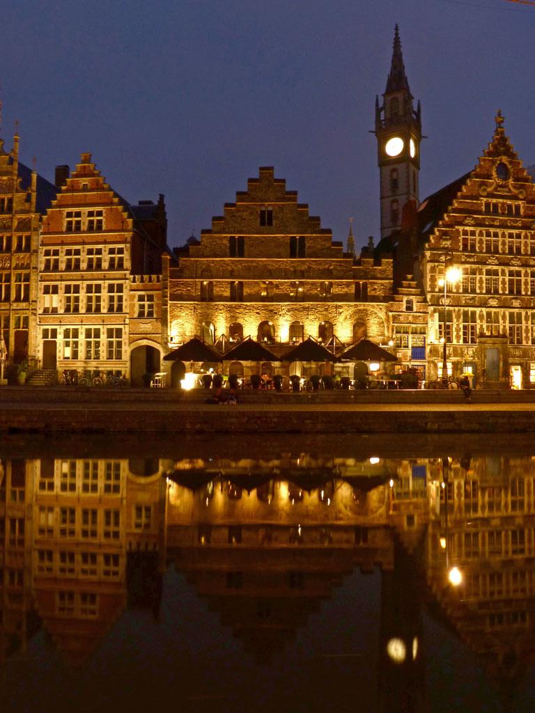 Korenlei, Graslei bei Nacht, Gent Sehenswürdigkeiten, Moments of Travel