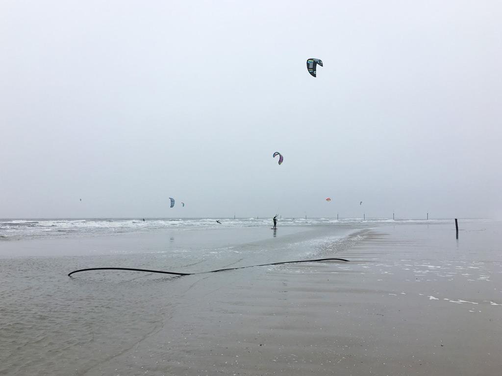 Kitesurfer Strand St. Peter-Ording