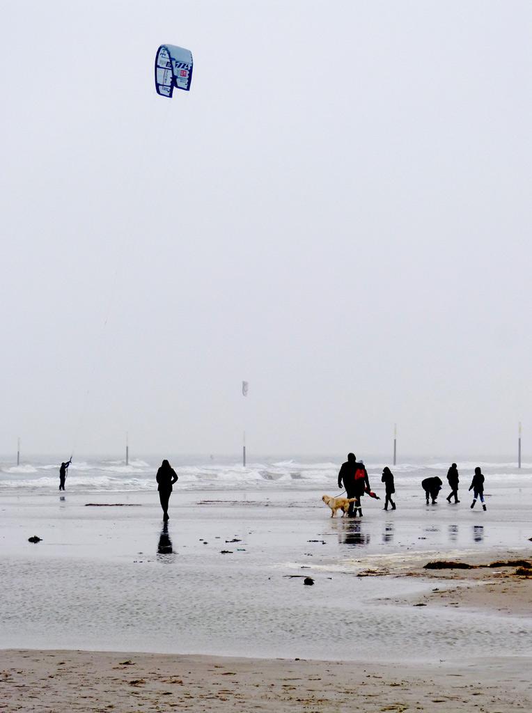Menschen Kite Surfer St. Peter-Ording