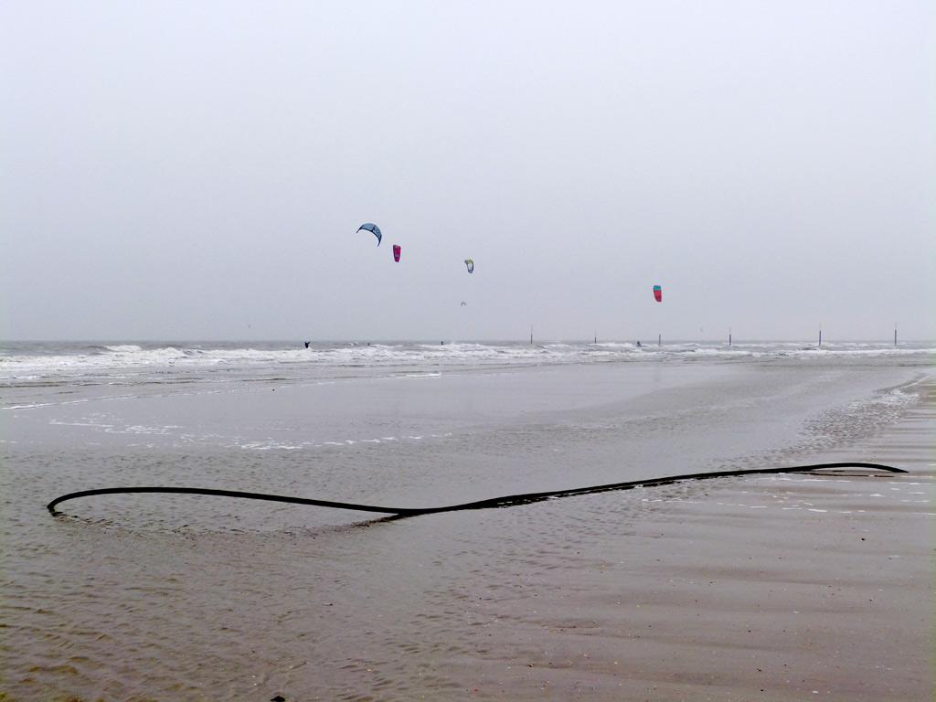 Strand Meer Kites St. Peter-Ording