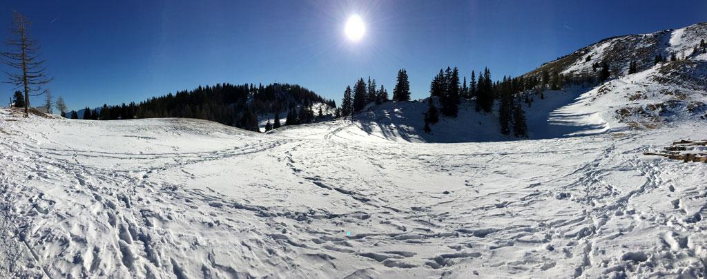 schnee und sonne auf dem dobratsch